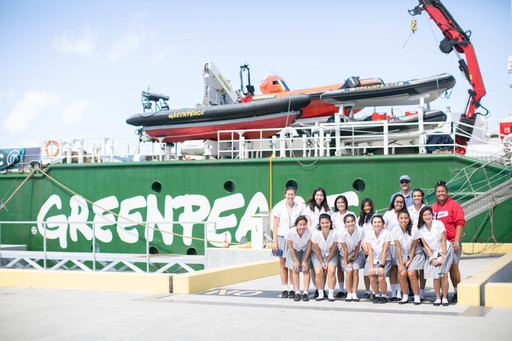 Students Board Greenpeace Ship for a Private Tour